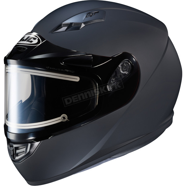 HJC Matte Black CS-R3 Snow Helmet w/Framed Electric Shield - 031-615