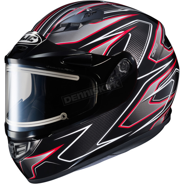 HJC Black/Gray/Red CS-R3 Spike MC-1 Snow Helmet w/Framed Electric Shield - 033-916