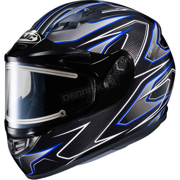 HJC Black/Gray/Blue CS-R3 Spike MC-1 Snow Helmet w/Framed Electric Shield - 55-29128