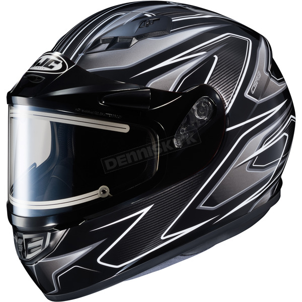 HJC Black/Gray/Silver CS-R3 Spike MC-5 Snow Helmet w/Framed Electric Shield - 033-953