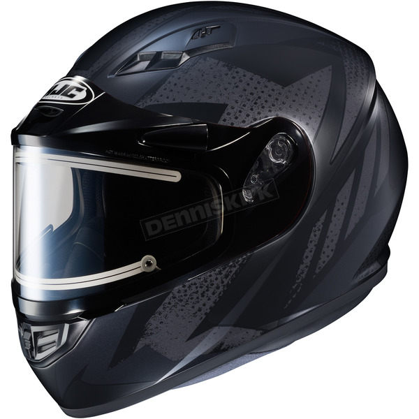 HJC Flat Black/Gray CS-R3 Treague MC-5F Snow Helmet w/Framed Electric Shield - 55-29251