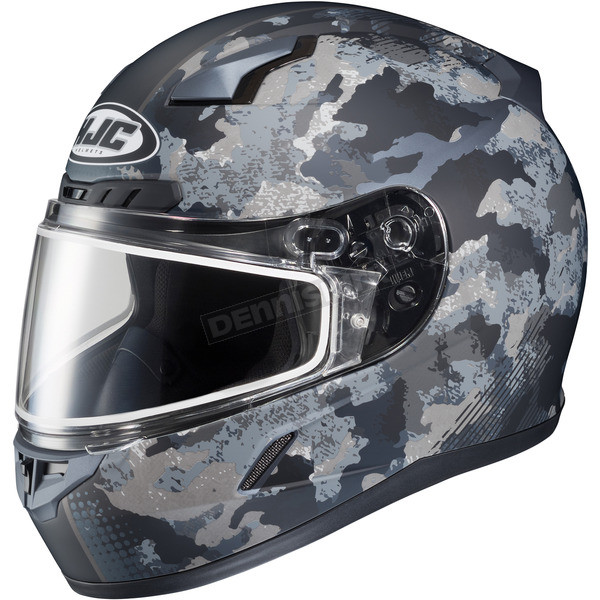 HJC Flat Dark Gray/Light Gray CL-17SN Void MC-5F Snow Helmet w/Frameless Dual Lens Shield - 845-857
