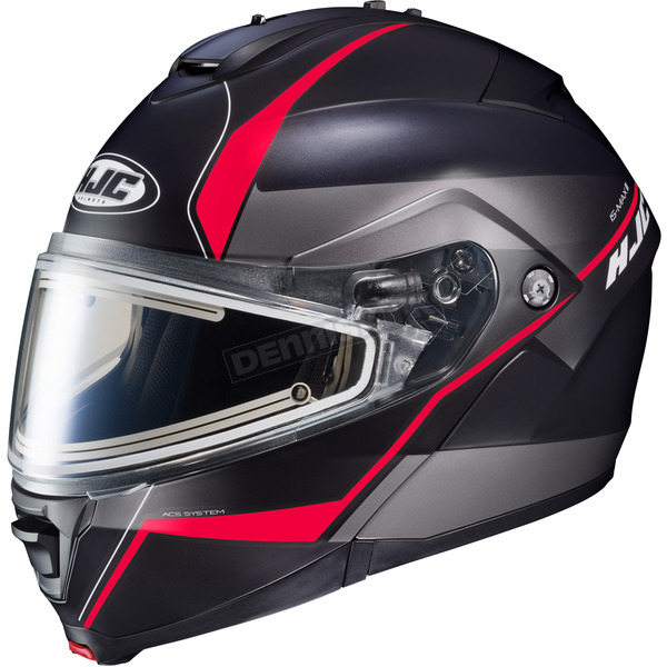 HJC Semi-Flat Black/Gray/Red IS-MAX 2 Mine MC-1SF Snow Helmet w/Frameless Electric Shield  - 191-716