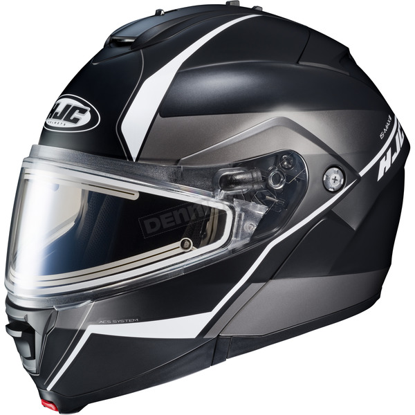 HJC Semi-Flat Black/Gray/Silver IS-MAX 2 Mine MC-5SF Snow Helmet w/Frameless Electric Shield  - 58-23759Z