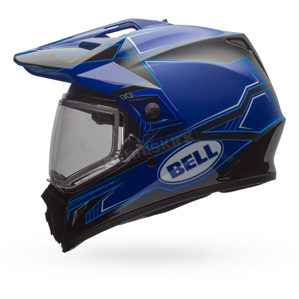 Bell Helmets Gloss Blue/Matte Black MX-9 Adventure Blockade Snow Helmet w/Dual Lens Shield  - 7075945