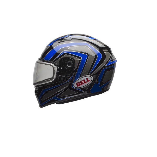 Bell Helmets Blue/Titanium Qualifier Machine Snow Helmet w/Dual Lens Shield  - 7076035