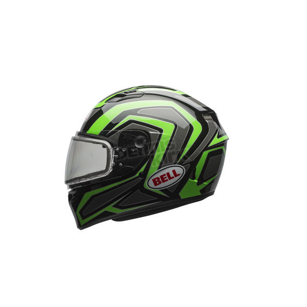 Bell Helmets Green/Titanium/Black Qualifier Machine Snow Helmet w/Dual Lens Shield - 7076046