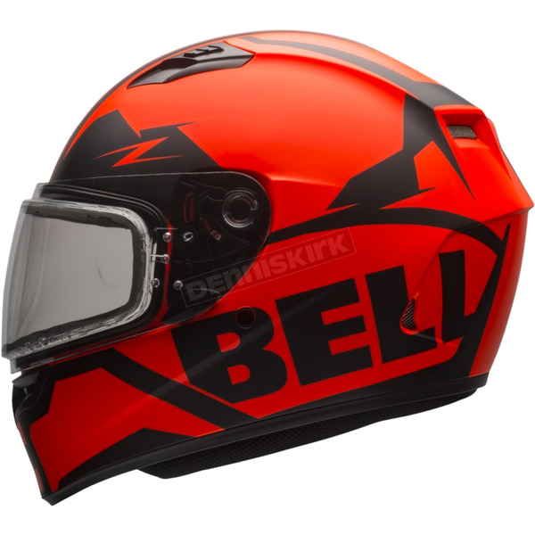 Bell Helmets Matte Orange/Black Qualifier Momentum Snow Helmet w/Dual Lens Shield - 7076084
