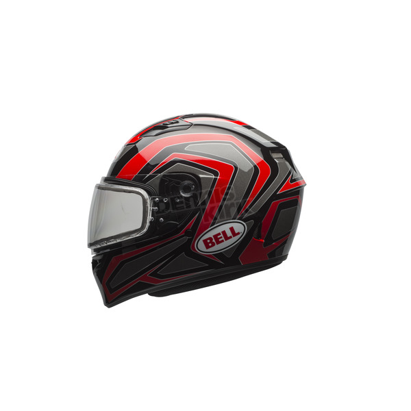 Bell Helmets Red/Titanium/Black Qualifier Machine Snow Helmet w/Dual Lens Shield  - 7076105