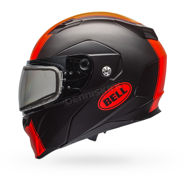 Bell Helmets Matte Black/Orange Revolver EVO Rally Snow Helmet w/Dual Lens Shield - 7076256