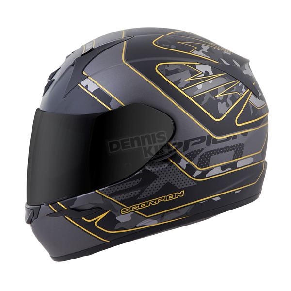 Scorpion Black/Gold EXO-R410 Convoy Helmet - 41-1213