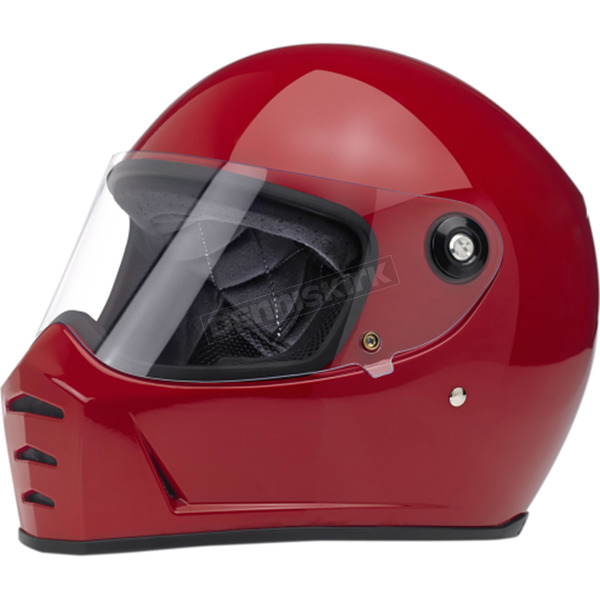 Biltwell Gloss Blood Red Lane Splitter Helmet - LSREDGLECESML