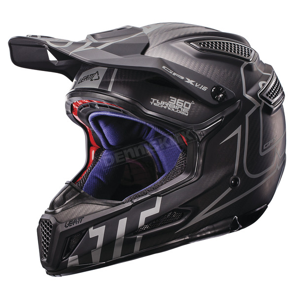 Leatt Black/Silver GPX 6.5 Carbon V16 Helmet - 1017110021