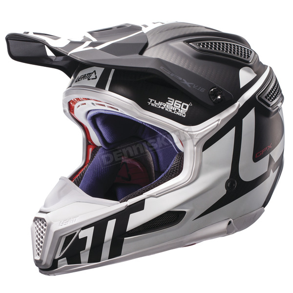 Leatt Black/White GPX 6.5 Carbon V16 Helmet - 1017110035