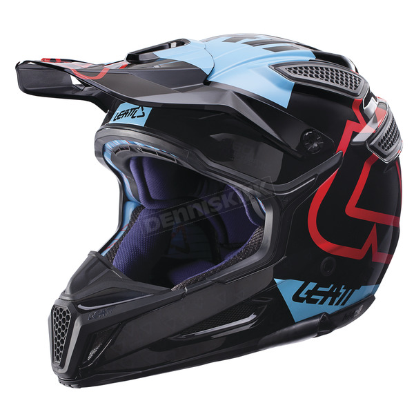 Leatt Black/Blue GPX 5.5 Composite V15 Helmet - 1017110431