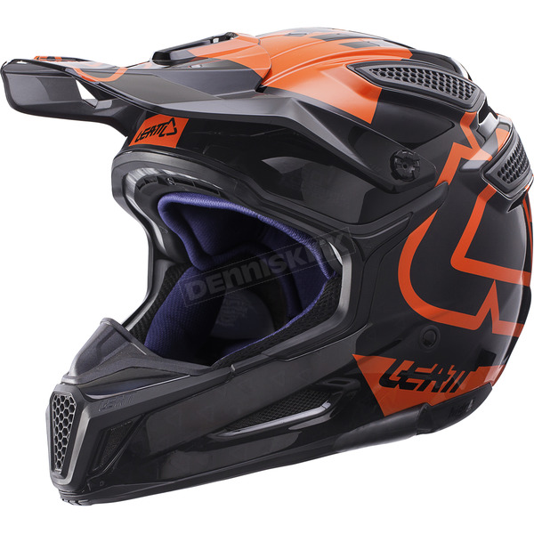 Leatt Black/Orange GPX 5.5 Composite V15 Helmet - 1017110440