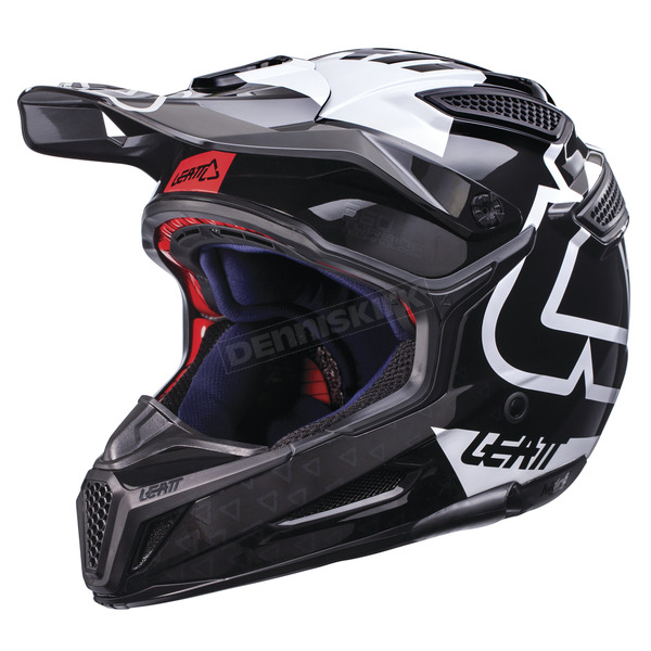Leatt Black/White GPX 5.5 Composite V15 Helmet - 1017110454