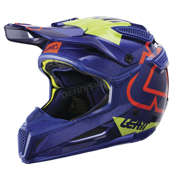 Leatt Blue/Lime GPX 5.5 Composite V15 Helmet - 1017110463