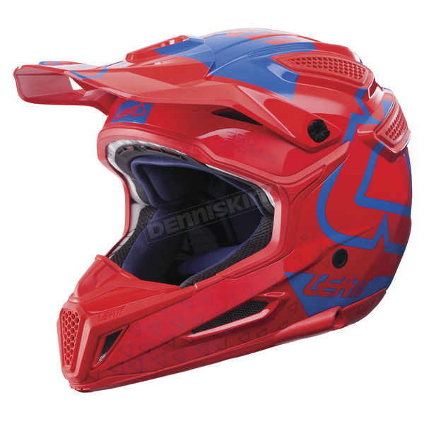 Leatt Red/Blue GPX 5.5 Composite V15 Helmet - 1017110481