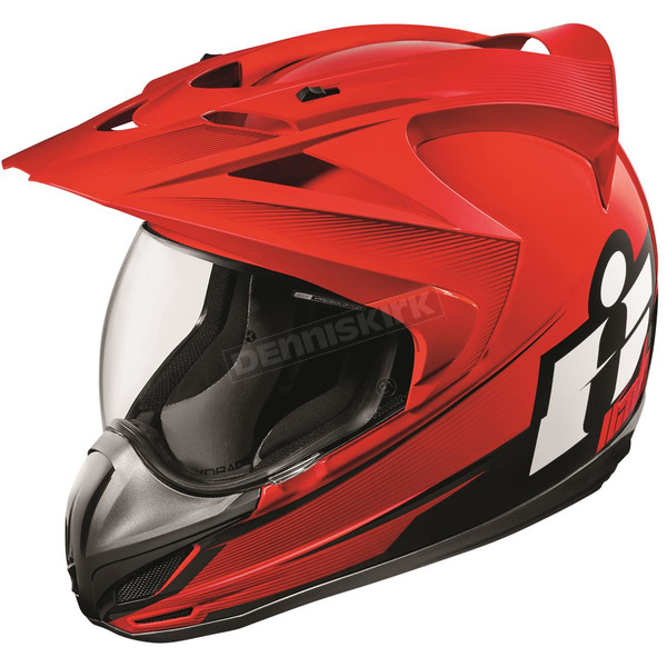 Icon Red Variant Double Stack Helmet - 0101-10019