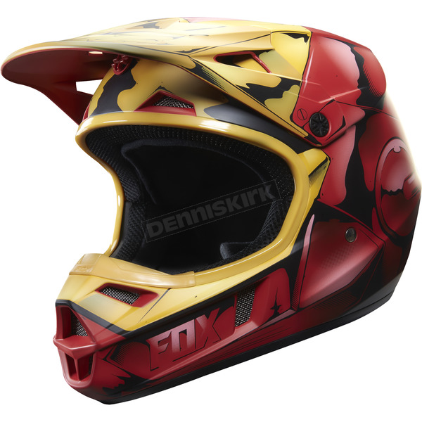 Fox Youth Iron Man V1 Helmet - 19976-003-L