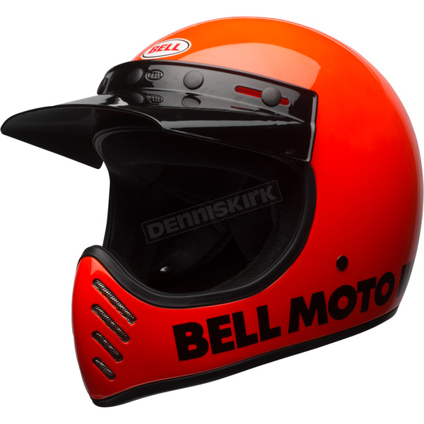 Fluorescent Orange Moto-3 Classic Helmet