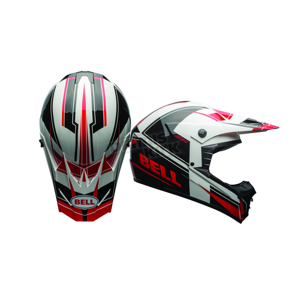Bell Helmets Black/White/Red SX-1 Holeshot Helmet - 7080907