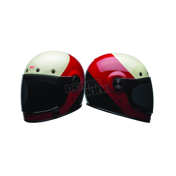Bell Helmets White/Red/Black Bullitt Triple Threat Helmet - 7080935