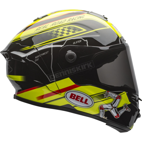 Bell Helmets Black/Yellow Star Isle of Man Helmet - 7081478
