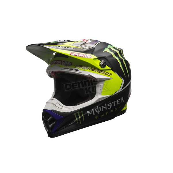 Bell Helmets Black/Green Moto-9 Flex Monster Energy Pro Circuit 2017 LE Helmet - 7084376