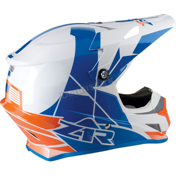 Z1R Orange/Blue Rise Helmet - 0110-5105