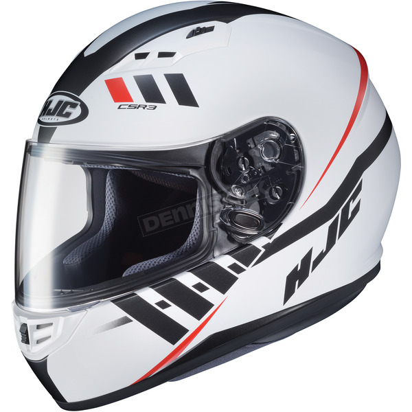 HJC Semi-Flat White/Black/Red CS-R3 Space MC-10SF Helmet - 136-704