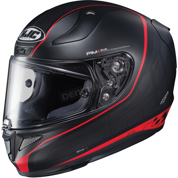 HJC Semi-Flat Black/Red RPHA-11 Pro Riberte MC-1SF Helmet - 1652-715