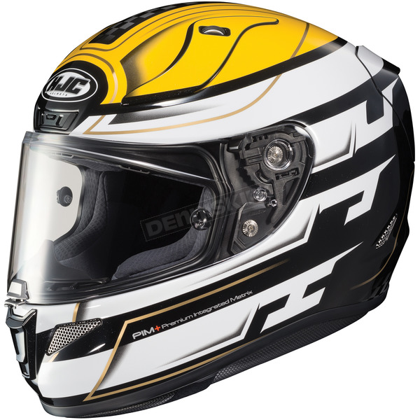HJC White/Black/Yellow RPHA-11 Pro Skyrym MC-3 Helmet - 1654-933