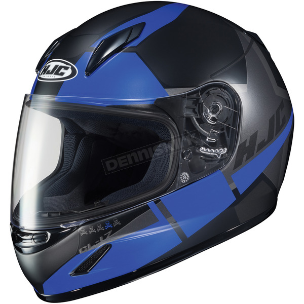 HJC Youth Semi-Flat Black/Blue/Gray CL-Y Boost MC-2SF Helmet - 236-722