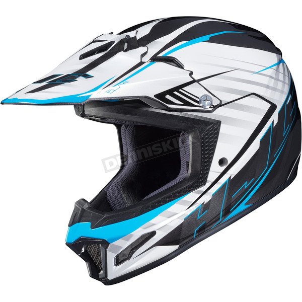 HJC White/Black/Blue CL-XY II Youth Blaze MC-2 Helmet - 292-924