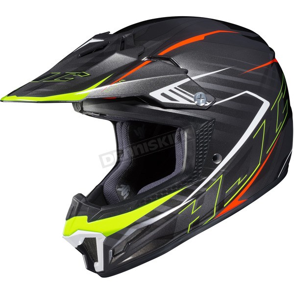 HJC Black/Neon Green CL-XY II Youth Blaze MC-5 Helmet - 292-955