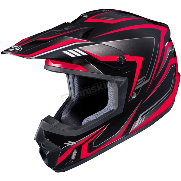 HJC Black/Red/Gray CS-MX II Edge MC-1 Helmet - 326-913