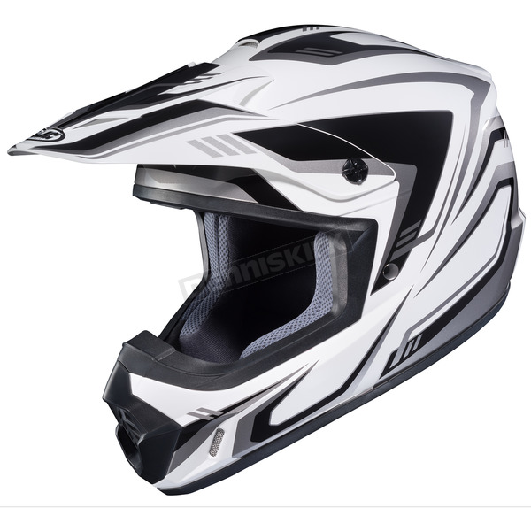 HJC White/Black/Gray CS-MX II Edge MC-5 Helmet - 326-952