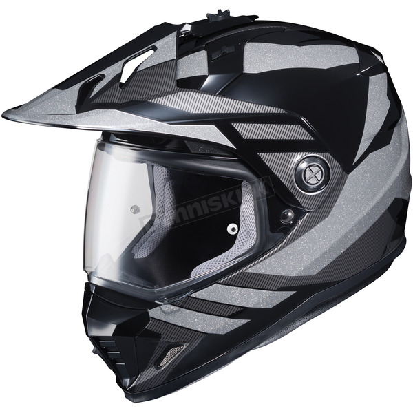 HJC Gray/Black DS-X1 Lander MC-5 Helmet - 512-956