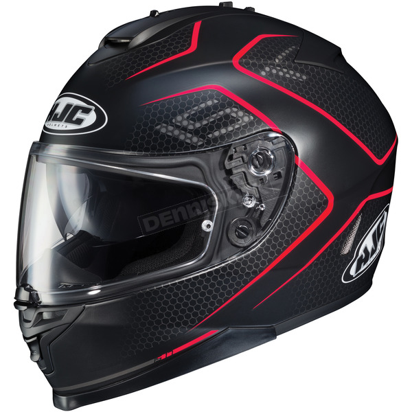 HJC Semi-Flat Black/Red IS-17 Lank MC-1SF Helmet - 596-716