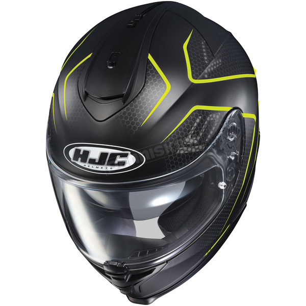 HJC Semi-Flat Black/Neon Green IS-17 Lank MC-3HSF Helmet - 596-735