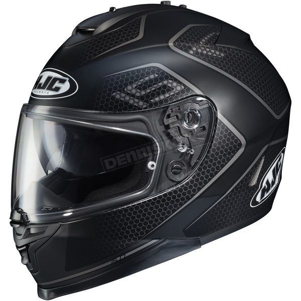 HJC Semi-Flat Black/Gray IS-17 Lank MC-5SF Helmet - 596-755