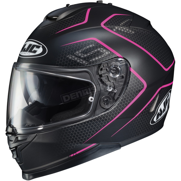 HJC Semi-Flat /Pink IS-17 Lank MC-8SF Helmet - 596-781