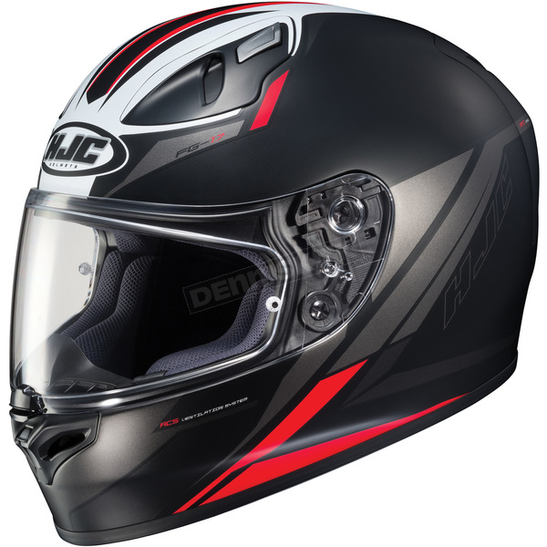 HJC Semi-Flat Black/Red FG-17 Valve MC-1SF Helmet - 638-715
