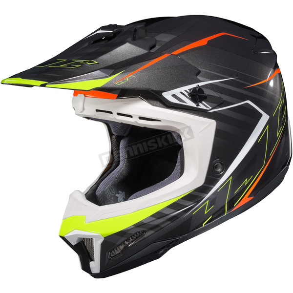 HJC Black/Neon Green/Red CL-X7 Blaze MC-5 Helmet - 752-951
