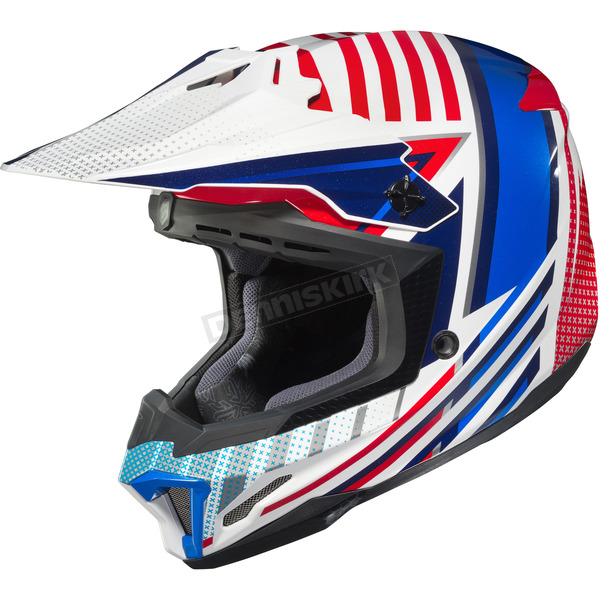 HJC Red/White/Blue CL-X7 Hero MC-21 Helmet - 754-215