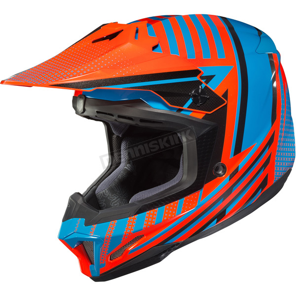 HJC Orange/Turquoise CL-X7 Hero MC-26 Helmet - 754-324