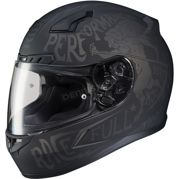 HJC Semi-Flat Black/Gray CL-17 Rebel MC-5F Helmet - 850-851