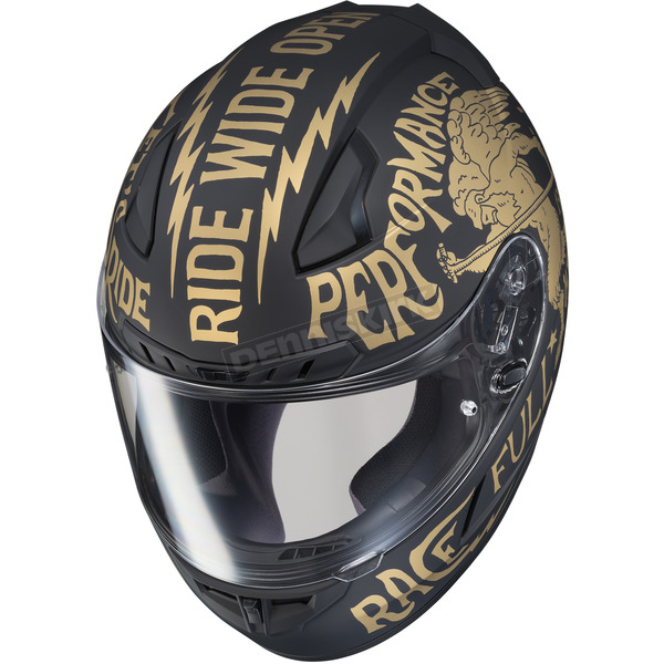 HJC Semi-Flat Black/Gold CL-17 Rebel MC-9F Helmet - 850-896